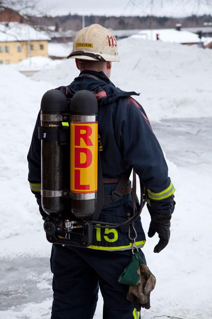 RDL-skylt på rökdykledare